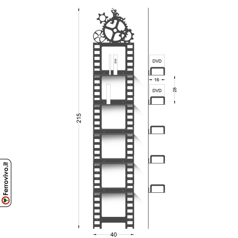 Porta dvd tempi moderni ferrovivo - Porta dvd da parete ...