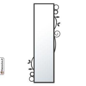 Specchio rettangolare da ingresso