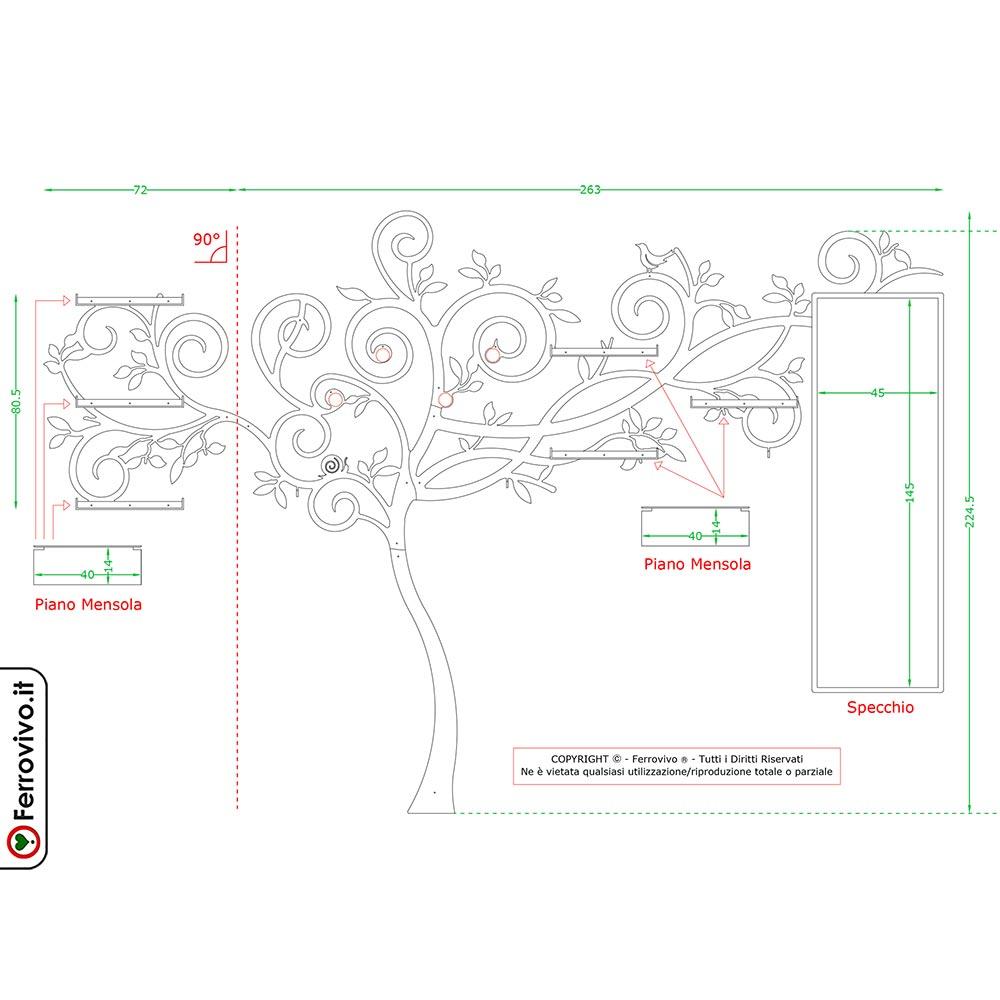 Altezza Specchio Ingresso soluzione da ingresso con specchio | ferrovivo | parete