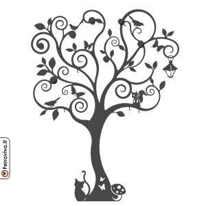 Appendiabiti da parete a forma di albero della vita