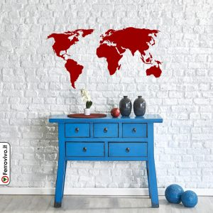 world map shaped magnetic blackboard