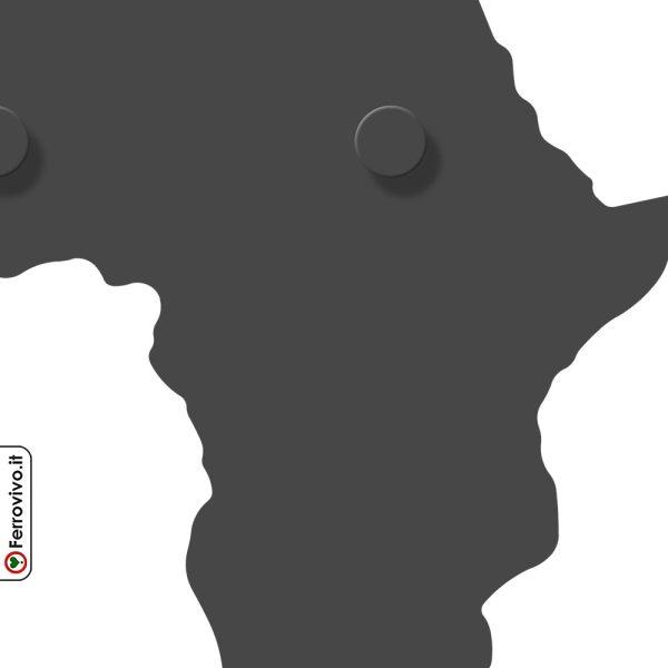 Appendiabiti da muro a forma di Africa