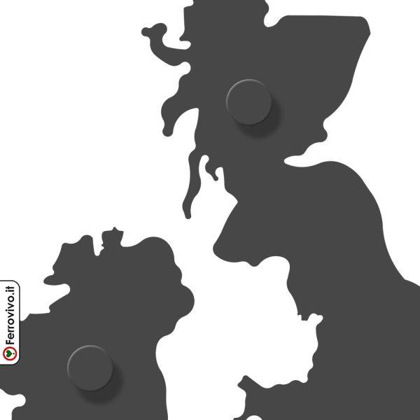 Mappa Inghilterra appendiabiti