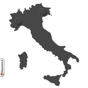 Mappa Italia appendiabitiin metallo