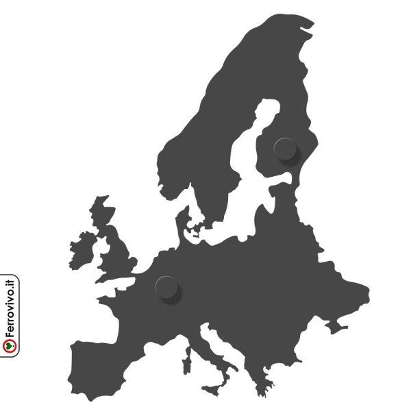 Attaccapanni da parete mappa Europa