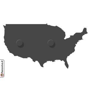Appendiabiti a forma di Stati Uniti