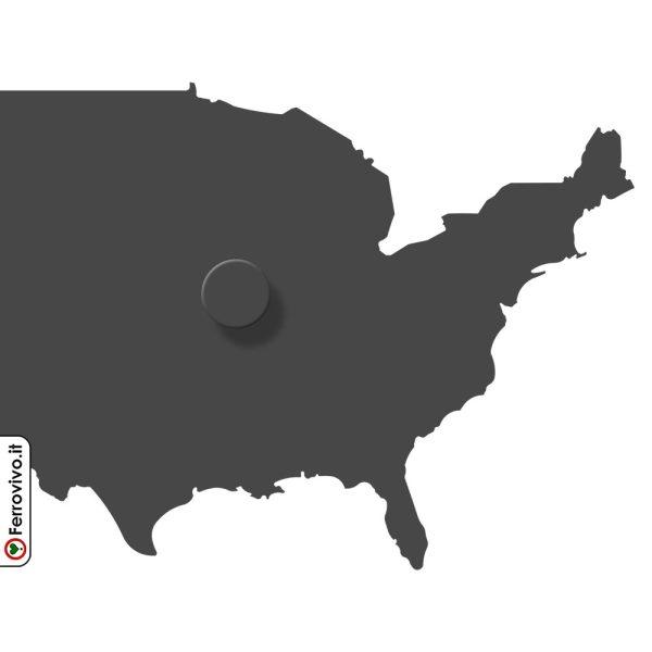 Attaccapanni in metallo mappa Stati Uniti