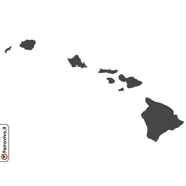 Decorazione da parete in metallo che rappresenta le isole Hawaii