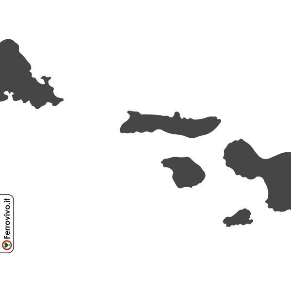 Dettaglio isole Hawaii in metallo