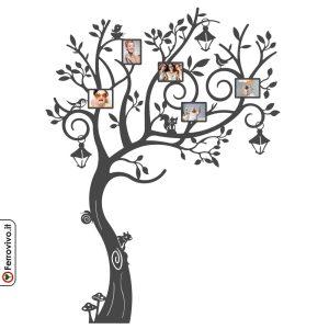 Portafoto da parete in metallo a forma di albero