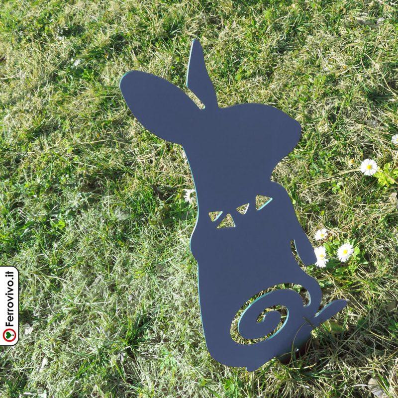 coniglietto-in-metallo-per-decorare-il-giardino