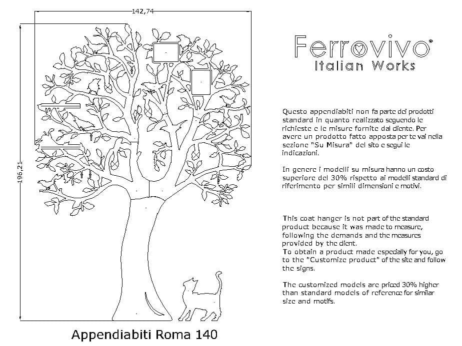 Appendiabiti Roma.Appendiabiti Roma 140