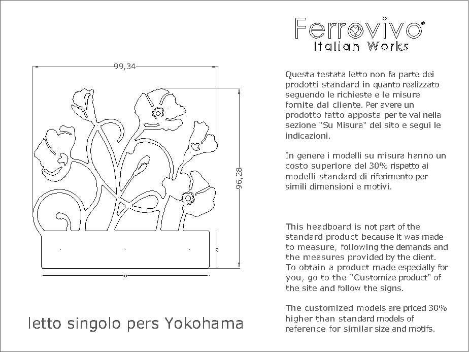 Letto Singolo Misura Standard.Letto Singolo Yokohama Ferrovivo