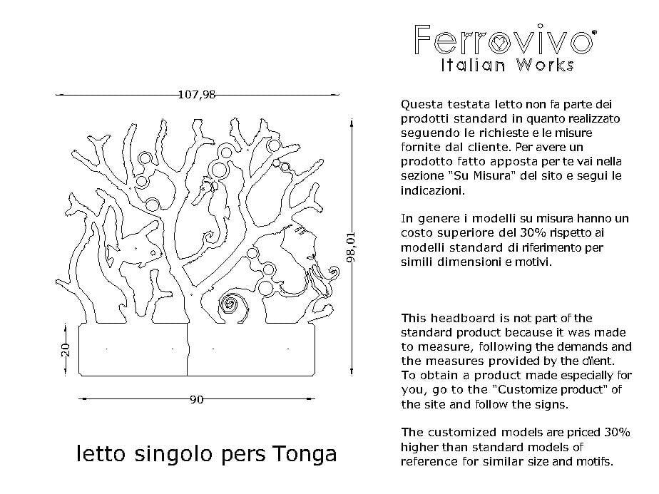 Letto singolo pers. Tonga - Ferrovivo